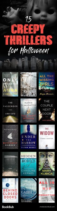 These creepy thriller books are worth reading for Halloween. Including twisty thrillers full of suspense and spooky stories for adults.