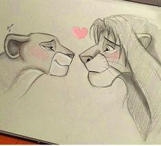 The lion king? The lion king? The lion king? The lion king? Disney Drawings Sketches, Cute Disney Drawings, Easy Drawings, Drawing Sketches, People Drawings, Drawing Ideas, Drawing Disney, Simple Cartoon Drawings, Drawing Cartoon Characters