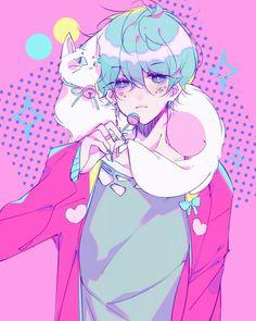 Anime💚/ this boy is soo Beautiful🤗💟🙌 Anime Boys, Cute Anime Guys, Arte Do Kawaii, Kawaii Art, Manga Art, Manga Anime, Anime Art, Anime Style, Dessin Old School