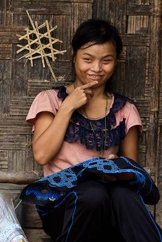 Embroidered clothing from #Laos. Discover the world. Discover yourself. #Travel