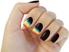 Gay pride nails!