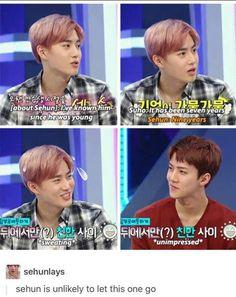 Sehun: It has been 9 years suho hyung, Get your shit together! Exo Ot12, Chanbaek, Kpop Exo, Exo K, K Pop, Exo Facts, Chanyeol Baekhyun, Xiuchen, Kim Minseok