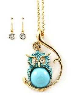 Plump Owl Pendant