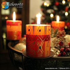 Season Greetings from Nobunto! #handpainted #handcrafted #candles #decorations #SouthAfrica #FairTrade #Christmas