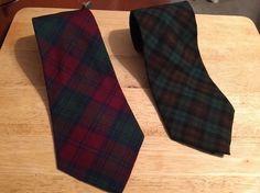 Lot of 2 - Vintage PEDIGREE by Michel Mens Ties -  100% Wool - Christmas Plaids #Pedigree #NeckTie #ChristmasHolidays
