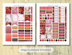 50% OFF SALE // Romantic Roses weekly Kit by missplannerstickers