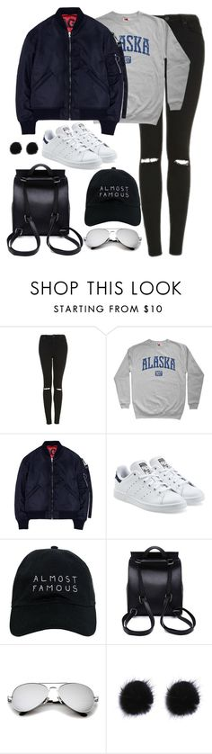 """""""Untitled #3004"""" by theaverageauburn on Polyvore featuring Topshop, Studio Concrete, adidas Originals and Nasaseasons"""