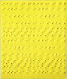 Enrico Castellani, Superificie gialla Acrilico su tela, cm 120x100 Stima € 200.000/300.000 Lotto n. 469