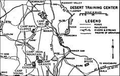 Detail of Desert Training Center Map.