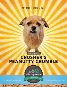 Crusher's Peanutty Crumble 100% Gluten-free Vegan by 3pawsgourmet