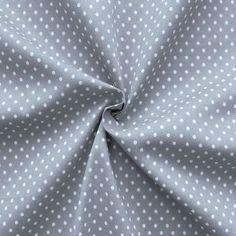 Baumwollstoff  Tupfen klein  Farbe Grau