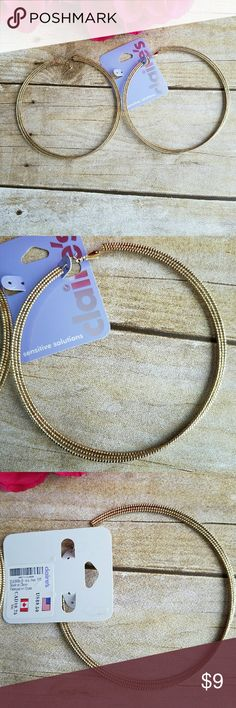 Claire's big gold hoops Claire's big gold hoop earrings. Claire's Jewelry Earrings