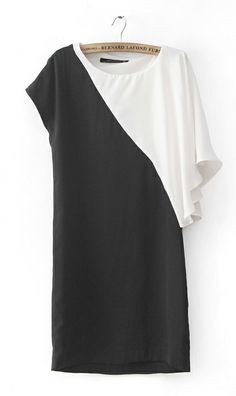 Black and white chiffon dress 5674,cool  t shirt