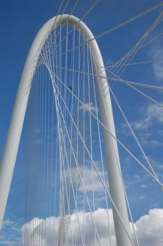 The Margaret Hunt Hill Bridge in Dallas designed by Calatrava.  Picture from The Hidden List.