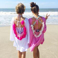 Women Summer Dresses 2017 Sexy Backless Tassels Beach Cover Up Beachwear Woman Beach Dress Sexy Pareo Bikini Covers Beach Tunic Short Beach Dresses, Summer Dresses For Women, Sexy Dresses, Summer Outfits, Beach Wear For Women Outfits, Chic Outfits, Moda Outfits, Beach Outfits, Vacation Outfits
