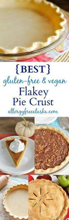 Best Flakey Pie Crust Recipe gluten-free, vegan from Allergy Free Alaska