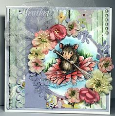 Beautiful coloring and teenique used in the making of this card.  House-Mouse Designs