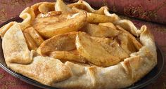 """EASIER THAN APPLE PIE RECIPE: ~ From: """"McCORMICK KITCHENS."""" ~ Prep.Time: 15 min; Cook Time: 20 min; Yield: (8 servings-can be adjusted). ~ This free-form apple dessert (often referred to as a rustic tart) is super easy because it starts with a refrigerated pie crust. Boost the antioxidant content even further by adding 1/4 cup dried cranberries or dried cherries to the fruit mixture."""