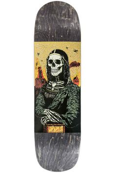 "Jart Skateboards Mona Lisa Pool Before Death 8.625"" Deck (black)"