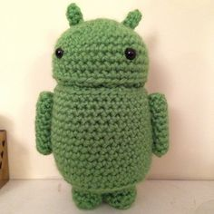 Andy the Android. Pattern is from Etsy and is ever so simple to follow.  https://www.etsy.com/uk/listing/153609815/andy-the-android-amigurumi-pattern