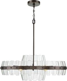 Varaluz Carson 30 inch 6-Light Oval Pendant in Coffee Bronze #lighting #lights #pendant