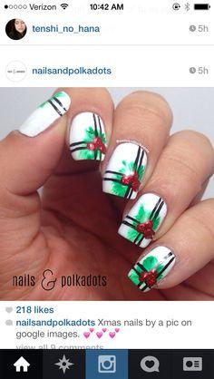 Mistletoe nails nails pinterest mistletoe nails and holiday mistletoe nails prinsesfo Image collections