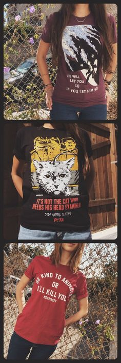 Some of the scariest shirts from  PETACatalog.com