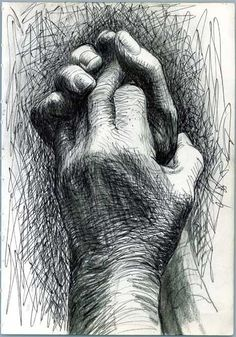 Again by Henry Moore but the style of drawing is more similar to mine. Also i like drawings of hands.: