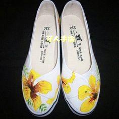 zapatillas pintadas a mano , Buscar con Google