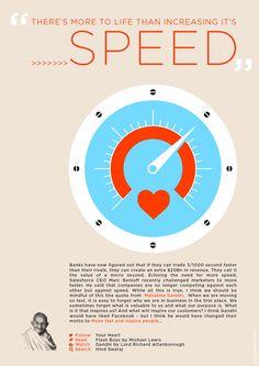 Speed by Gandhi.  Good social media advice... #gandhi #benioff #marketing #flashboys #speed #purpose