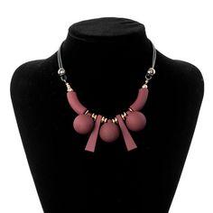 Cute & Beautiful Statement Wood Beads Necklace