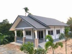 Bungalow House Design, Bungalow House Plans, Thai House, Simple House Plans, Pinoy, Contemporary Design, Outdoor Structures, Building, Outdoor Decor