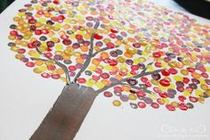 Painted Dot Fall Tree > Jones Design Company  @Brenna Cruickshank, idea for Kids Connect?