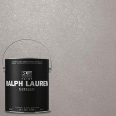 Ralph Lauren, Highgate Silver Metallic Specialty Finish Interior Paint, at The Home Depot - Mobile Sponge Rollers, Behr Marquee, Paint Primer, Color Plata, Construction, Metallic Paint, Silver Paint Walls, Glitter Paint, Architectural Elements