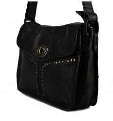 Lækker Nova taske i sort kalveskind - Køb nu - N660