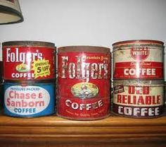 You can give your kitchen an old fashioned look by shopping for old tins. Flea markets and thrift shops are full of vintage coffee, tea and candy tins that make great little storage spaces for your items. Use them to hide your utensils, cookies, flour or sugar. Attach little handmade labels to the top labeling what each one contains.   #closet_organizers #closet_organizer_systems #closetmaid #shoe_rack