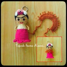 Frida Khalo / llavero tejido a crochet