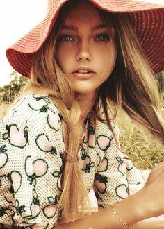 Sasha Pivovarova in Miu Miu | Ph: Mikael Jansson | French Vogue 11/10