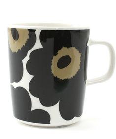 marimekko KITCHEN GOODS(マリメッコキッチングッズ)のUNIKKO/MUG(グラス/マグカップ/タンブラー)|ブラック