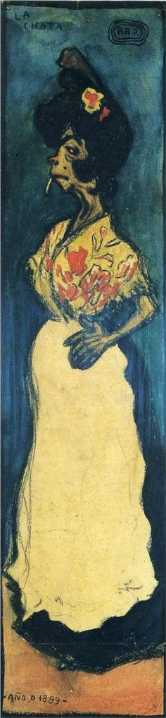 La chata - Pablo Picasso, 1899  Looks more like Egon Sheile to me. If anyone knows for sure, let me know.