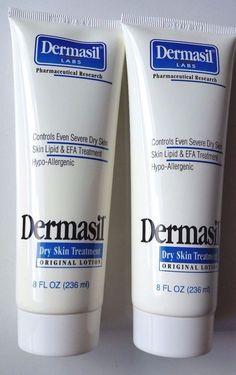 Lot of 2 Dermasil Labs Dry Skin Treatment Original Lotion 8 oz 236 ml 12/2016 #Dermasil