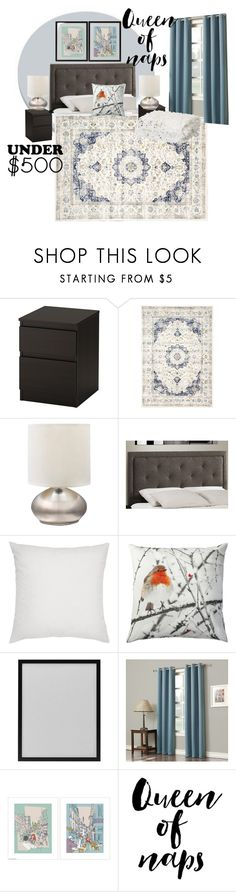 """""""Soothing blues & grays"""" by ical-rox ❤ liked on Polyvore featuring interior, interiors, interior design, home, home decor, interior decorating, KitchenAid, Franklin, bedroom and bedroomunder500"""