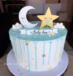 Torta Baby Shower, Baby Shower Cakes For Boys, Baby Boy Cakes, Star Baby Showers, Boy Baby Shower Themes, Baby Boy Shower, Cupcakes, Cupcake Cakes, Space Baby Shower