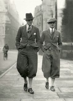 Cambridge undergraduates in plus fours, 1926