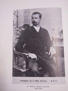 Portrait du Premier Gouverneur Français Marcel Treich-Laplène (1860-1890) à Grand Bassam en Côte D'Ivoire en Afrique de L'ouest