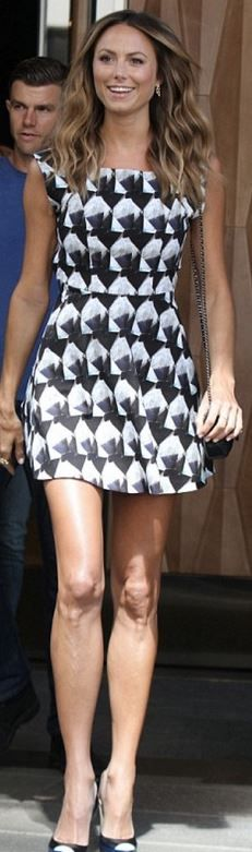 Stacy Keibler: Dress – Theyskens' Theory  Shoes – Ruthie Davis