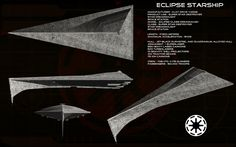 Eclipse starship ortho by unusualsuspex on DeviantArt Space Ship Concept Art, Concept Ships, Spaceship Art, Spaceship Design, Star Wars Ships, Star Wars Art, Star Trek, Star Citizen, Objet Star Wars