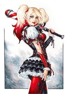 Harley Quinn by Candra.deviantart.com on @DeviantArt - More at https://pinterest.com/supergirlsart/