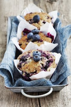 Learn how to make blueberry muffins and other blueberry recipes from the Blueberry Council. Kick your breakfast up a notch with these awesome blueberry muffins