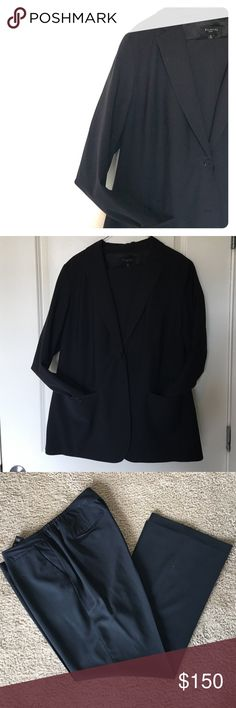 Suit--Blazer and Pants--great condition! In a classic double-button silhouette, the body-skimming fabrication fits and flatters with irresistible charm. Talbots Jackets & Coats Blazers